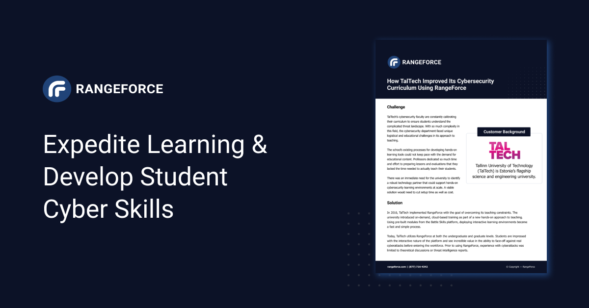 Expedite Learning &  Develop Student Cyber Skills