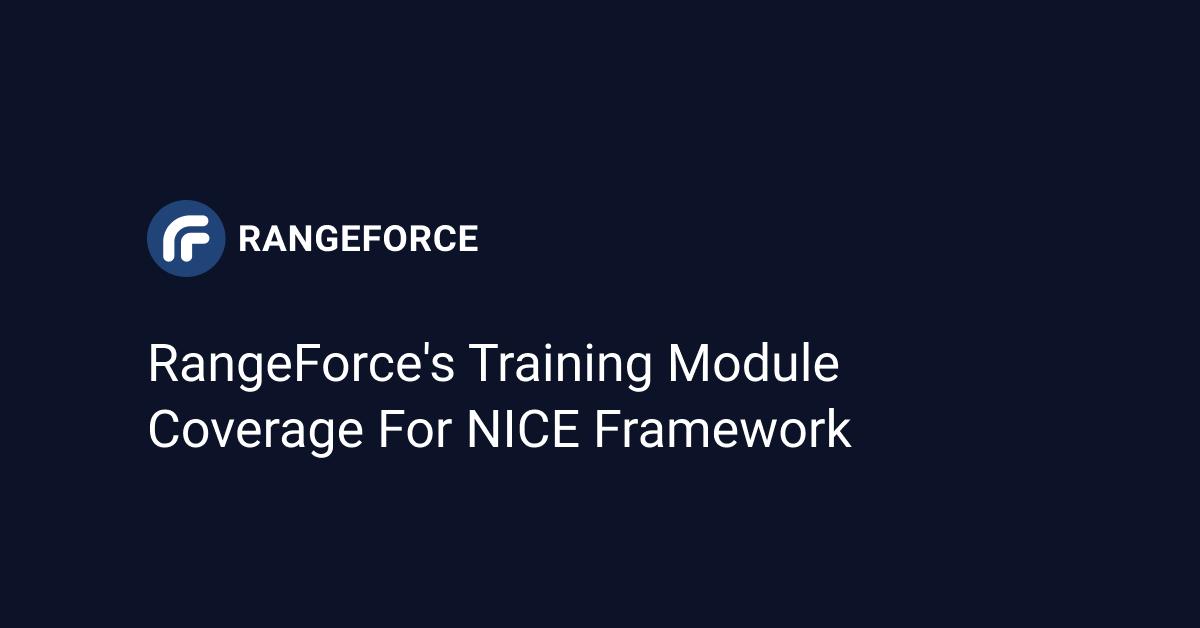 RangeForces Training Module Coverage for NICE Framework