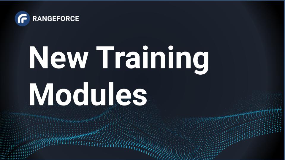 RangeForce Training Modules