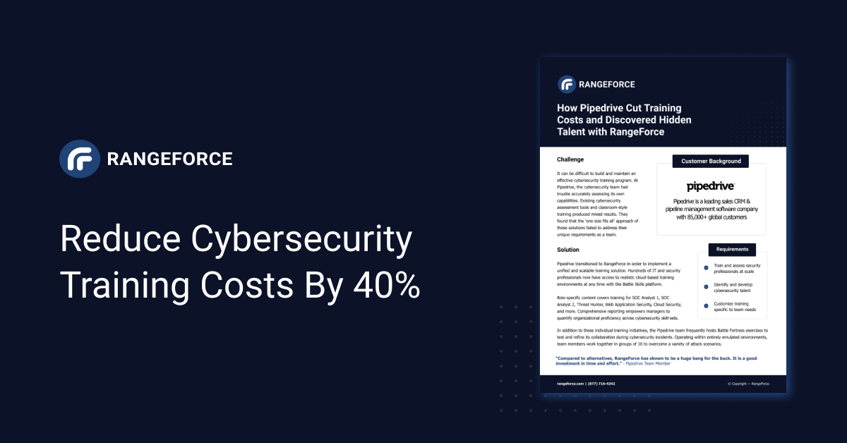 Reduce Cybersecurity Training Costs by 40%