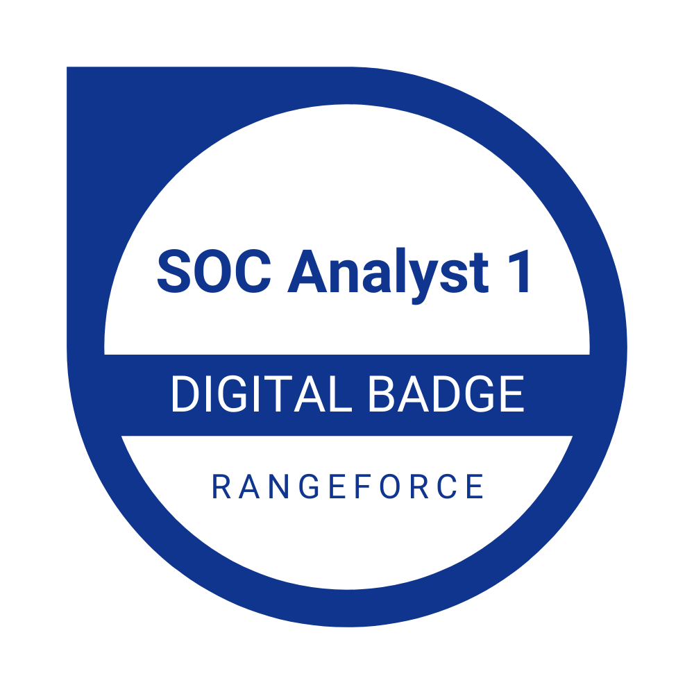SOC Analyst 1 Badge